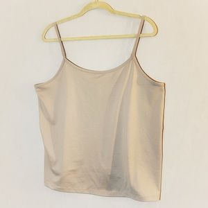 Plus size shimmer stretch cami